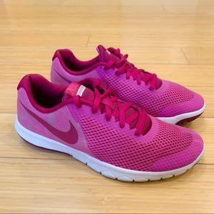 NIKE raspberry pink Flex 5 running sneakers, 6Y.